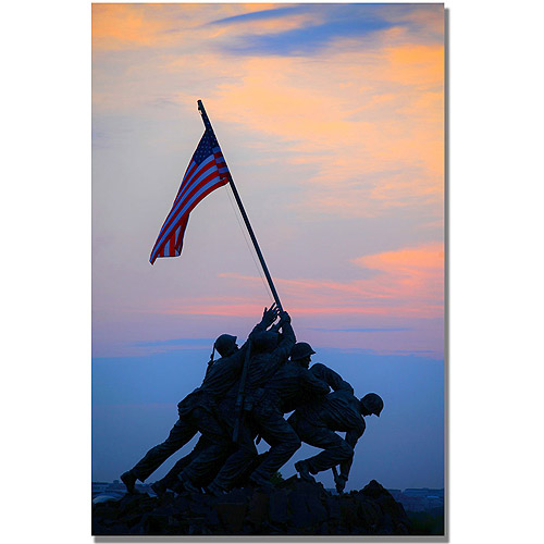"Trademark Fine Art ""Pinacle of Patriotism"" Canvas Wall Art by MCat"
