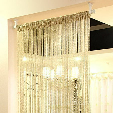 Door String Curtain Beads Window Panel Room Divider Crystal Tassel Fringe Beaded Today's Specials ()