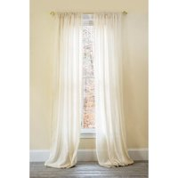 Manor Luxe Palermo Striped Sheer Rod pocket Single Curtain Panel