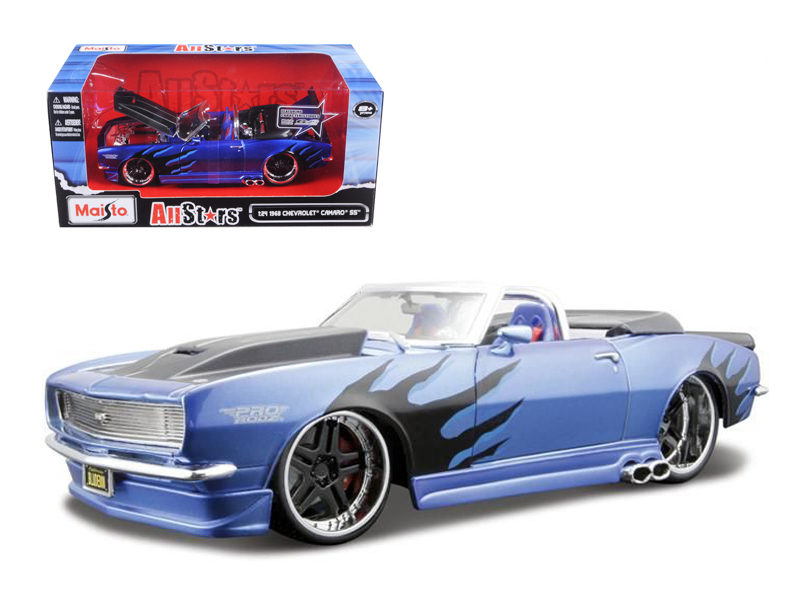 "1968 Chevrolet Camaro SS Convertible Blue Pro Rodz"" 1 24 Diecast Model Car by... by Diecast Dropshipper"