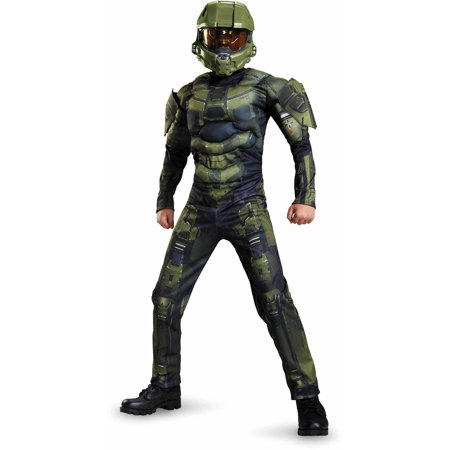 Halo Master Chief Classic Muscle Child Halloween Costume (Master Chief Gloves)