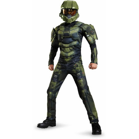 Halo Master Chief Classic Muscle Child Halloween Costume - Halo Costumes