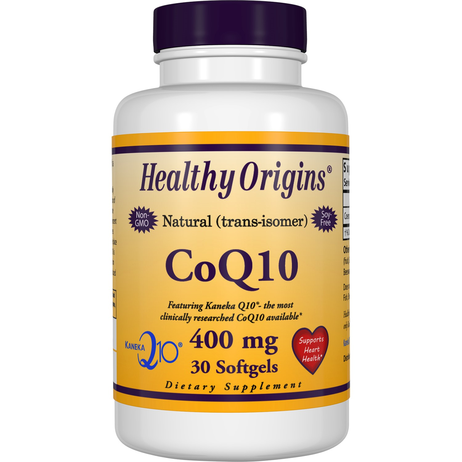 Healthy Origins Natural CoQ10 400 mg Softgels, 30 Ct