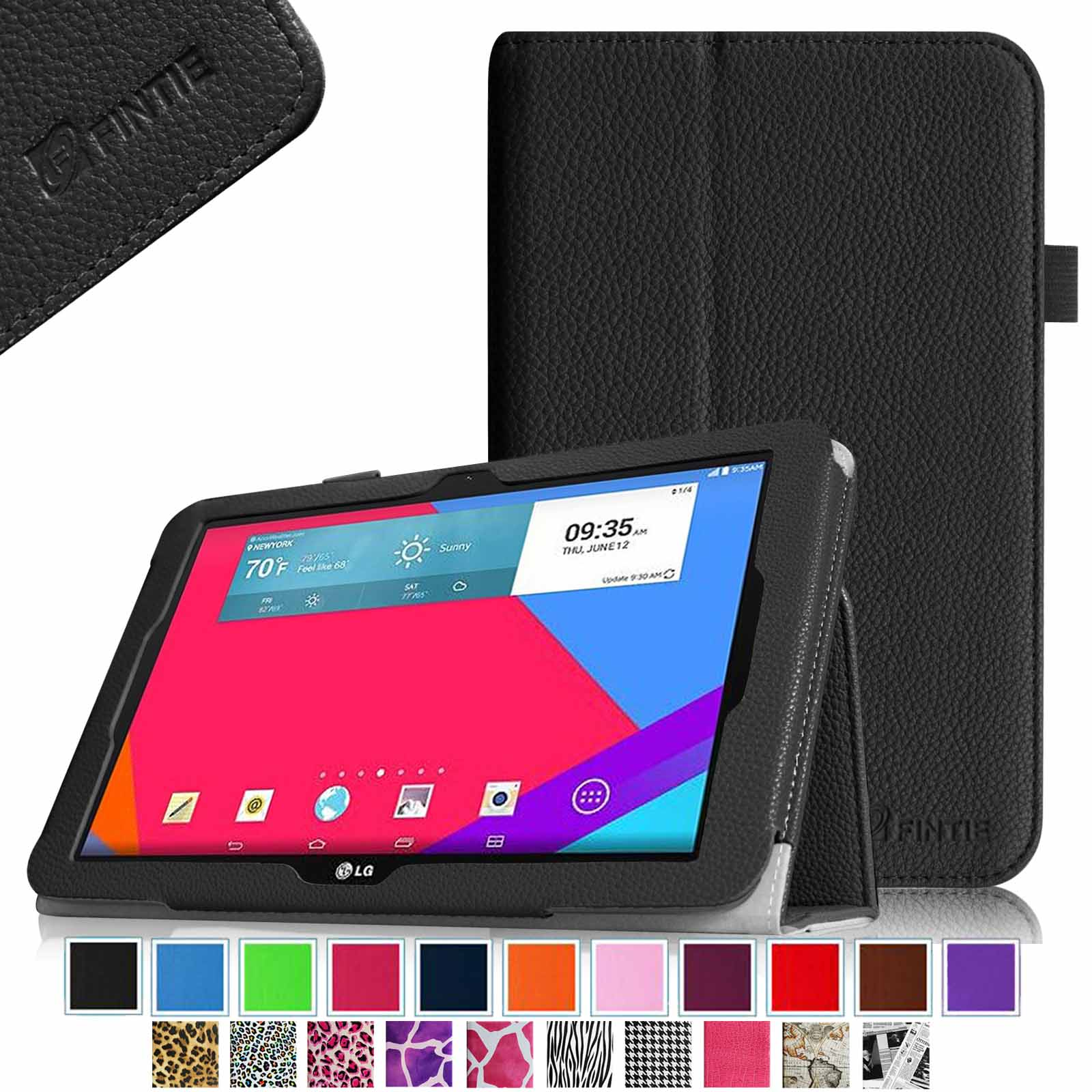 "Fintie LG G Pad 10.1 Folio Case - Premium Leather With Auto Sleep / Wake for LG G Pad V700 10.1"" Android Tablet, Black"