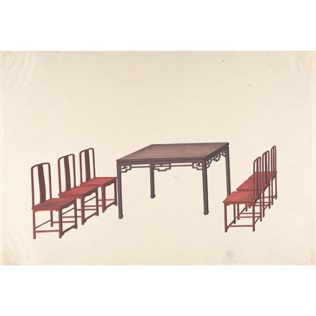 Century Chinese Export (Design for Export Furniture Poster Print by Anonymous Chinese 19th century (18 x 24) )
