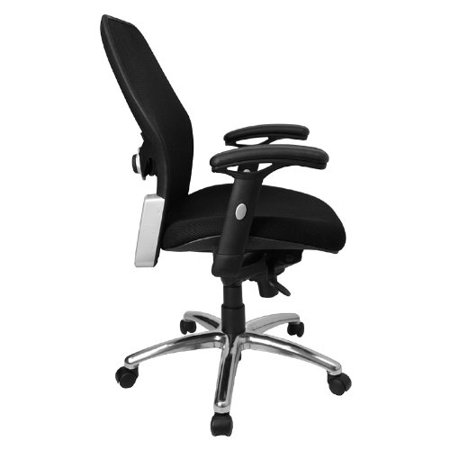 Flash Furniture LF W42 GG Mid Back Super Mesh Office Chair With Black Fabric