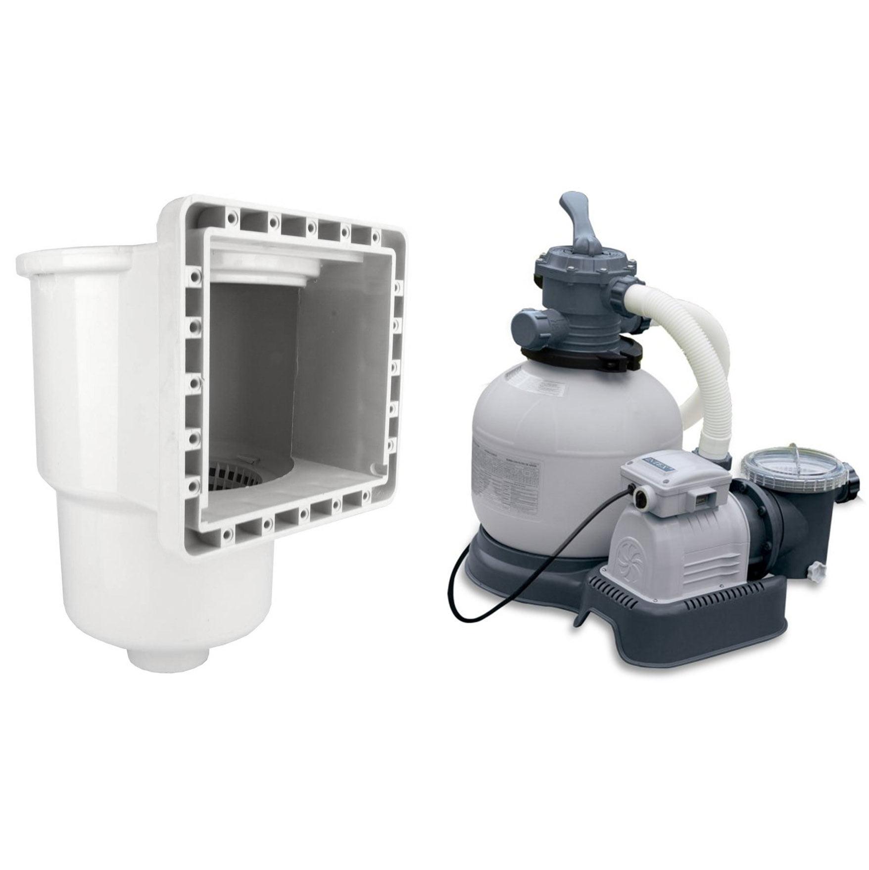 Hydro Tools Above Ground Pool Skimmer & Intex Krystal Clear 2800 GPH Sand Pump