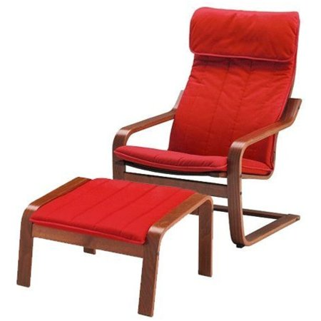 Ikea Poang Chair Armchair And Footstool Set With Covers  Machine Washable  26386 81720 2014