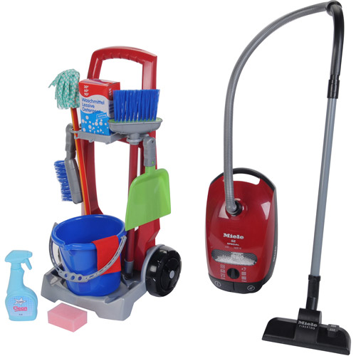 Theo Klein Cleaning Trolley Cleaning Trolley/Miele Vacuum Combo Play Set