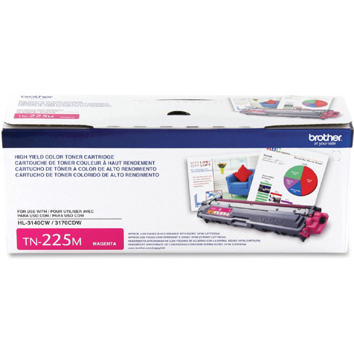 Brother TN225M High-Yield Toner, Magenta