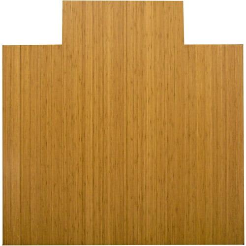 "Anji Mountain Bamboo Chairmat 55"" x 57"" with Lip, Natural"