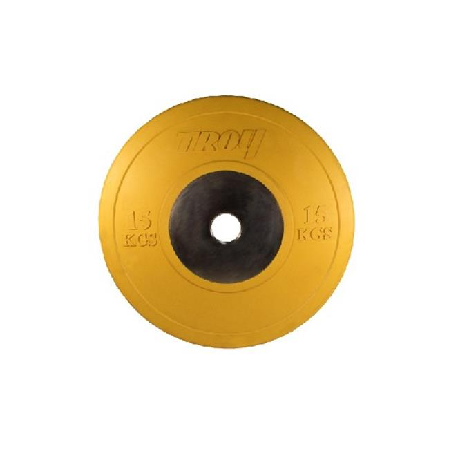 Troy Barbell CO-015SBP 15KG Yellow Competition Bumper Plate