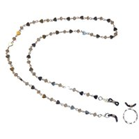 Hidden Hollow Beads Hematite Chain Eyeglass holder, comes with a ring and extra rubber loops.