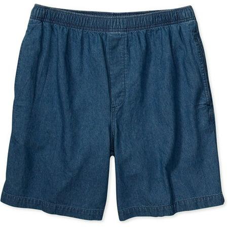 George - Men's Elastic-Waist Denim Shorts - Walmart.com