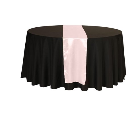 Your Chair Covers - 14 x 108 inch Satin Table Runner Blush for Wedding, Party, Birthday, Patio, etc.