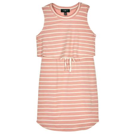 Striped Popover Knit Dress (Big Girls) - Dresses 10-12