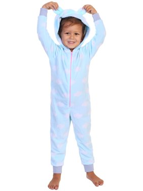 Angelina Women's FLEECE Novelty One-Piece Hooded Pajamas (1-Pack)
