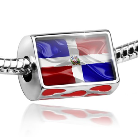 Bead Dominican Republic 3D Flag Charm Fits All European Bracelets - Als Bracelet