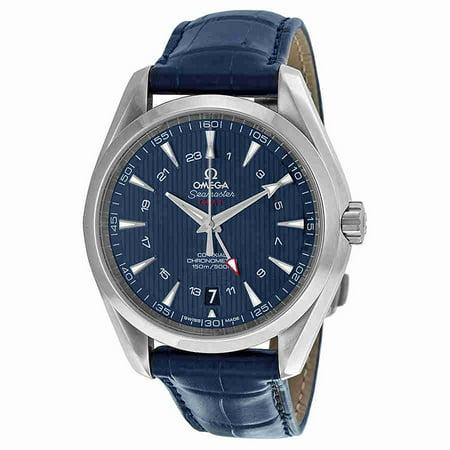 Omega Seamaster Aqua Terra Blue Dial Gmt Mens Watch 23113432203001