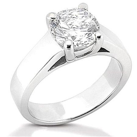 Vs1 White Gold Solitaire (Harry Chad HC12048-6 2.01 CT White Gold Diamonds Solitaire Ring - Color F - VS1 Clarity )