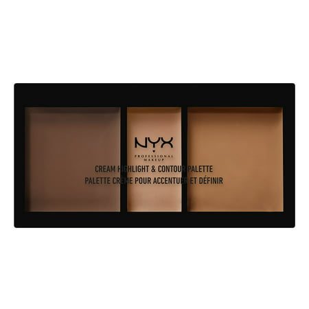NYX Professional Makeup Cream Highlight & Contour Palette, Deep