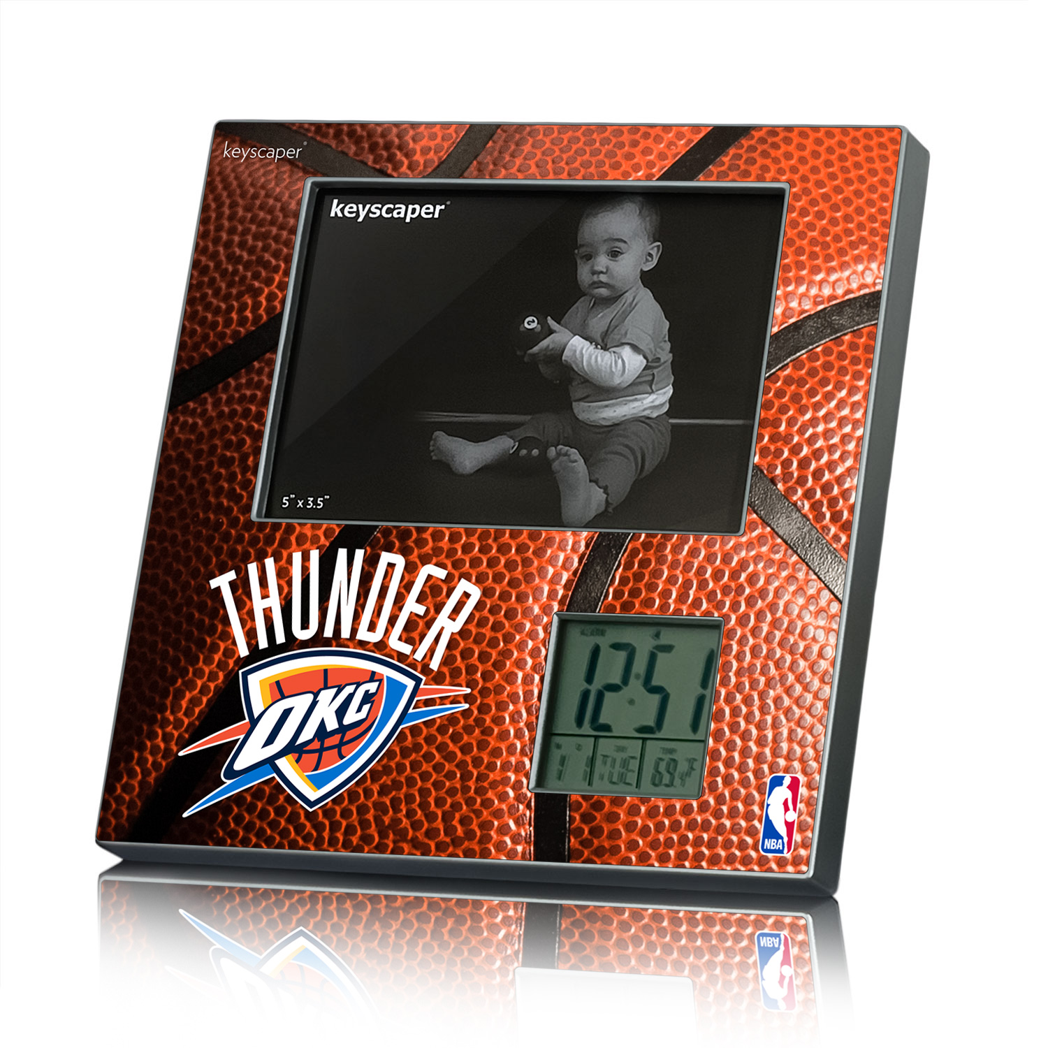 Oklahoma City Thunder Picture Frame and Desk Clock NBA