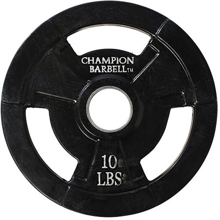 - Champion Olympic Rubber-Coated Grip Plate 2.5lbs - 45lbs