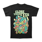 Close Your Eyes Men's  Snake Crush T-shirt Black