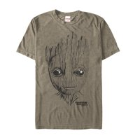 Marvel Men's Guardians of the Galaxy Vol. 2 Groot Face  T-Shirt