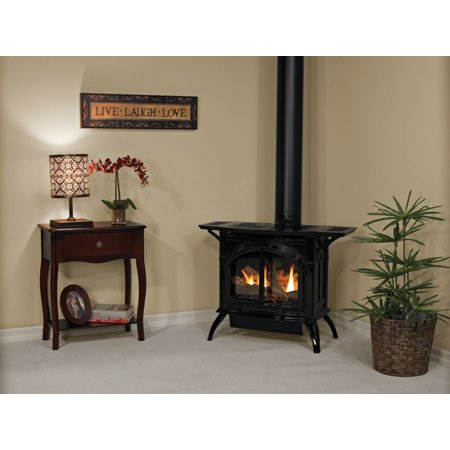 Heritage Cast Iron Matte Black Stove DVP30CC70FN - Natural Gas