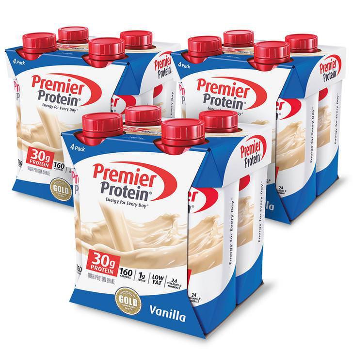 Premier Protein Shake, Vanilla, 30g Protein, 11 Fl Oz, 12 Ct