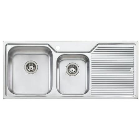Oliveri Canberra 45.25\'\' x 19.75\'\' Double Bowl Kitchen Sink ...
