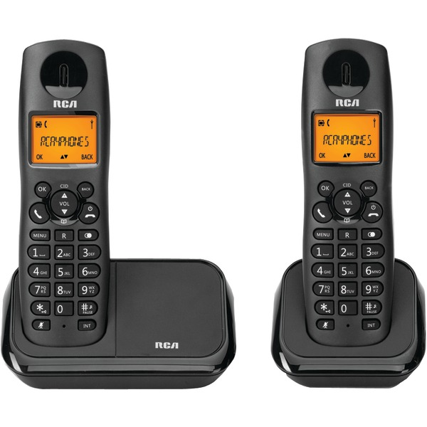 RCA 2161-2BKGA Element Series DECT 6.0 Cordless Phone with Caller ID (2-Handset System)