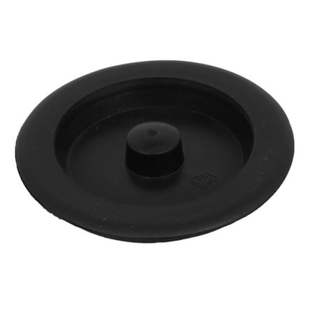 Unique Bargains Black Rubber Basin Water Sink Plug Disposal Stopper for Bathroom - Universal Sink Plug