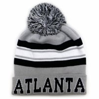 7625b16813d Product Image City Hunter Sk940 Atlanta Stripe College City Pom Beanie Knit  Hat (Light Grey black