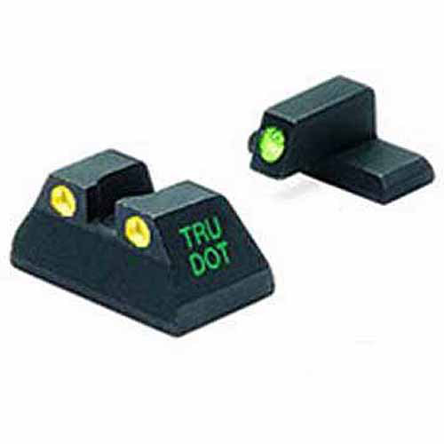 Mako Group Heckler and Koch Tru-Dot Sight, USP Full Size .40 and .45ACP, Green/Yellow Fixed Set