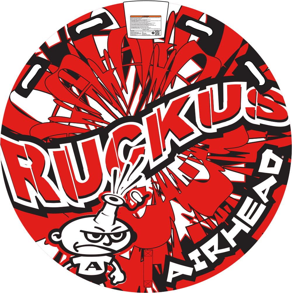 "Airhead Ruckus 58"" Towable Tube, Red"