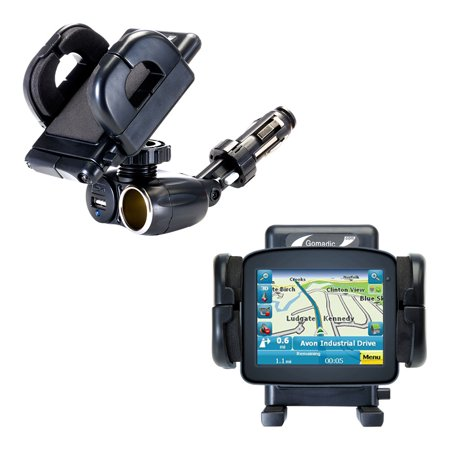 Dual USB / 12V Charger Car Cigarette Lighter Mount and Holder for the Maylong FD-220 GPS For Dummies