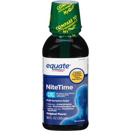 equate originale Nuit froide et liquide grippe, 12 oz