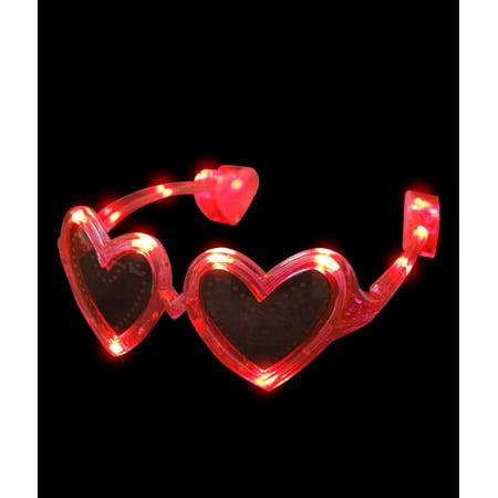 8fde5bab41 Fun Central - LED Heart Sunglasses - Red - Walmart.com