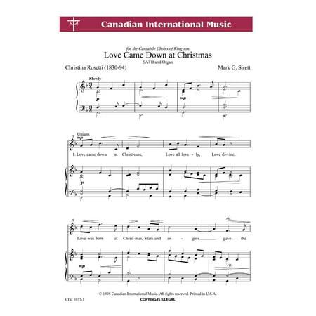 Love Came Down At Christmas.Love Came Down At Christmas Sac Anthem Satb Org Mark G Sirett Sheet Music Cim1031