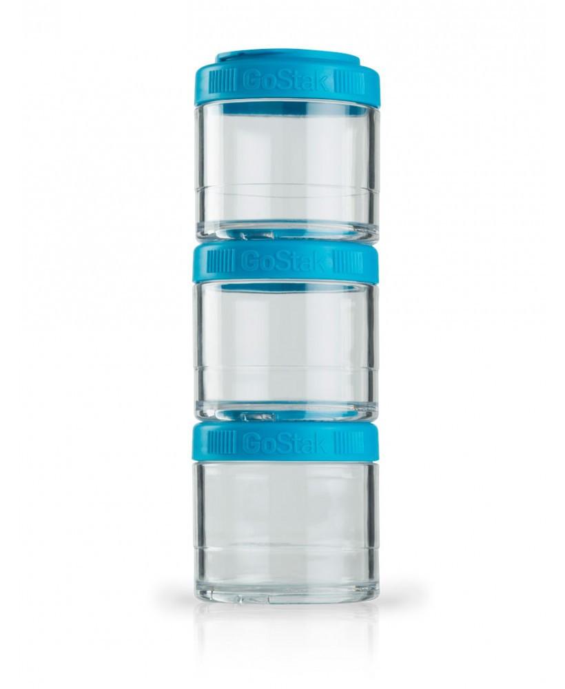 BlenderBottle GoStak Twist n' Lock Storage Jars, 100cc 3 Pack by Blender Bottle