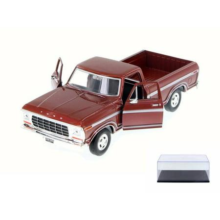 Diecast Car & Display Case Package - 1979 Ford F-150 Custom Pickup, Burgundy - Motor Max 79346AC/BR - 1/24 Scale Diecast Model Toy Car w/Display Case](Custom 50s Cars)