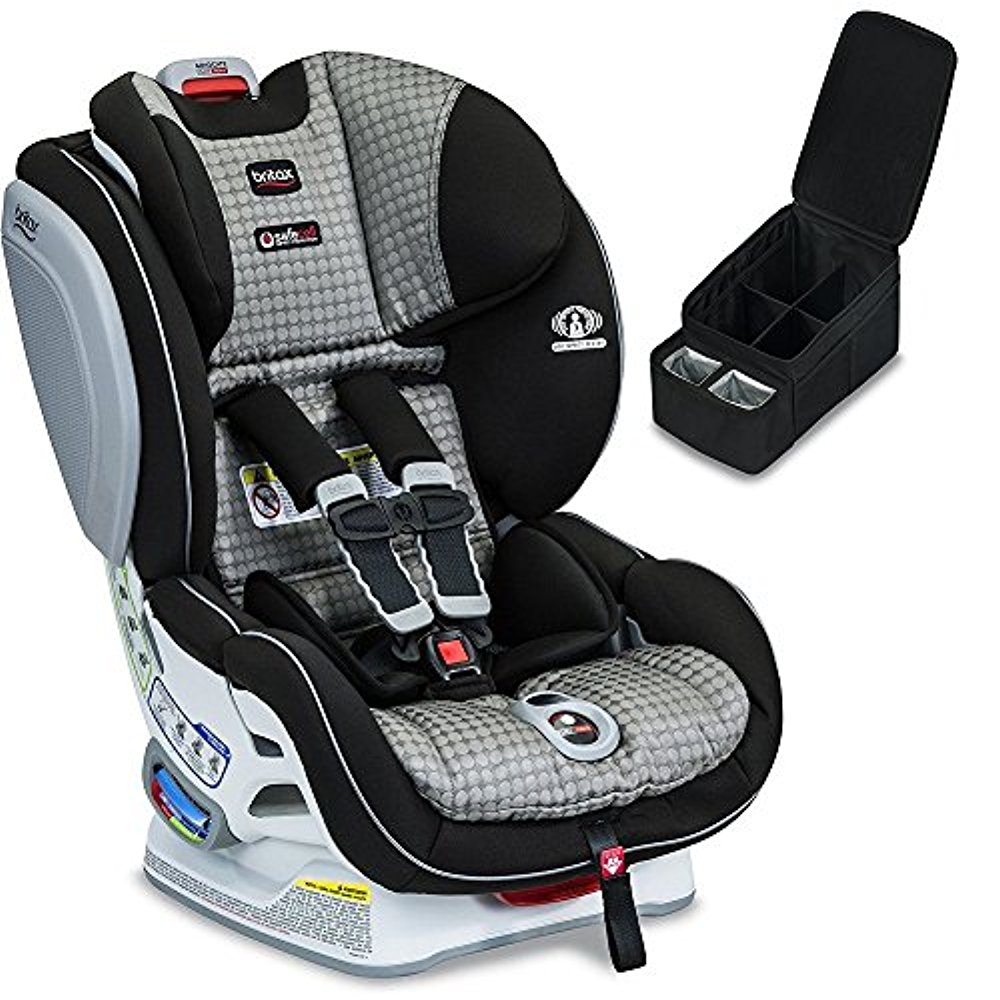 Britax Advocate ClickTight Convertible Car Seat, Venti & Car Seat Caddy Bundle