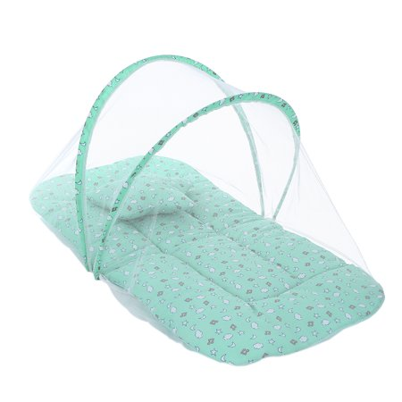 Foldable Baby Infant Crib Cradle Protective Anti-Bug Tent Mosquito Net With Mattress Pillow for 0-18 Month Baby