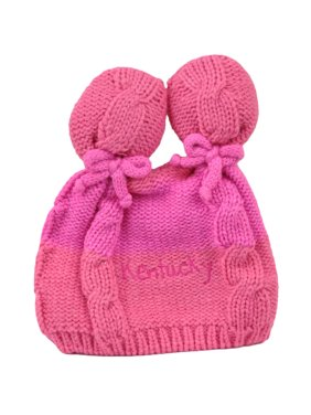 Product Image Kentucky State Infant Striped Knit Beanie Pink Crochet Ear  Ball Hat USA America d104027ed2a3