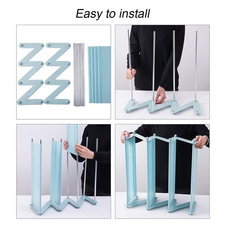 """4 Layers Shoes Rack Tower Shelf Storage Organizer Holder Stand Non-woven Fabric 18.7""""x7.4""""x18.1"""" - image 2 de 5"""
