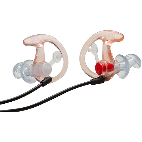 SureFire EP3-EarPro Sonic Defender Earplugs, Clear, Small