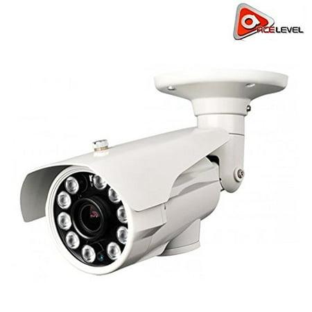Acelevel 2.4MP HD TVI Bullet Camera with 2.8mm Vari-Focal Lens and 10 Super IR LEDs (White