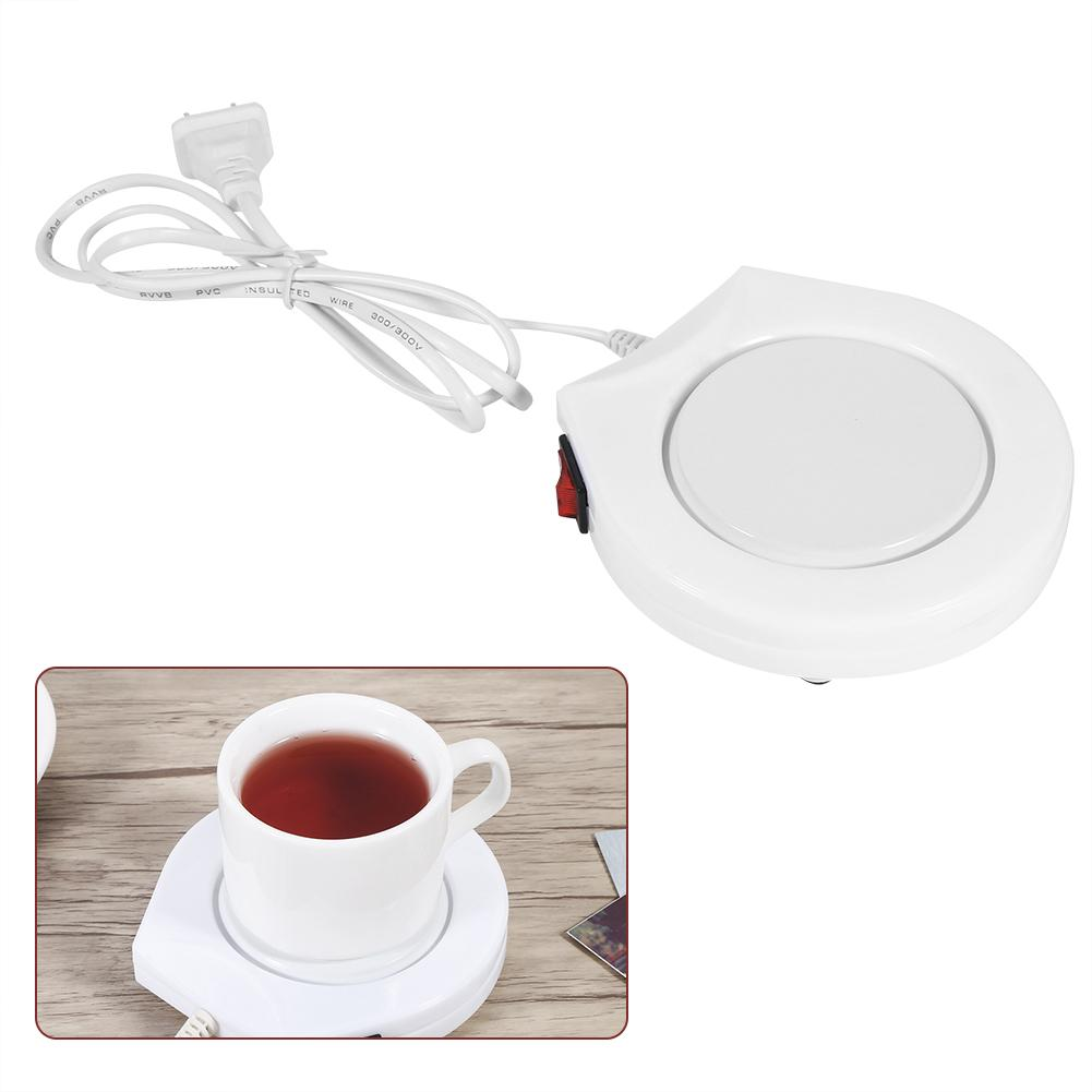 Filfeel 110V  White Electric Powered Cup Warmer Heater Pad Coffee Tea Milk Mug US Plug,warmer heater